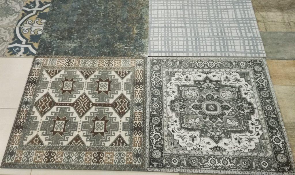 Novinka keramické dlažby připomínající koberec.